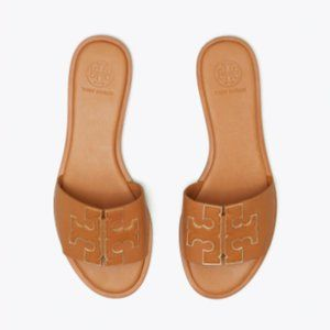New Tory Burch INES SLIDE Tan Size 8